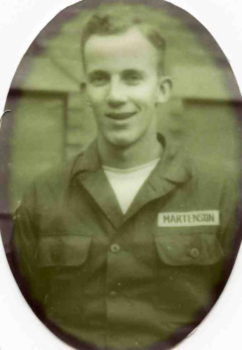 "Christine's father, Robert C. ""Bob"" Martenson, 1934-1968, served in the U.S. Army during the Korean War."