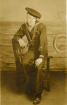 Christine's grandfather, Clarence Martenson, 1897-1968, served in the U.S. Navy during World War I.