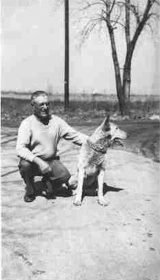 Doug's grandfather, George David, is shown with his faithful dog Rex. He served in the U.S. Army in World War I. He passed away in 1978 at the age of 86.