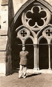 Hayes's grandfather, Col. Philip S. Pugh Jr., served in World War II. This photo was taken in France during the war.