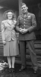 Linnea's great uncle, George Oakes, is pictured with his wife Fern on their wedding day. George was a Sergeant in the U.S. Army, serving in World War II. He was stationed in Germany after the war.